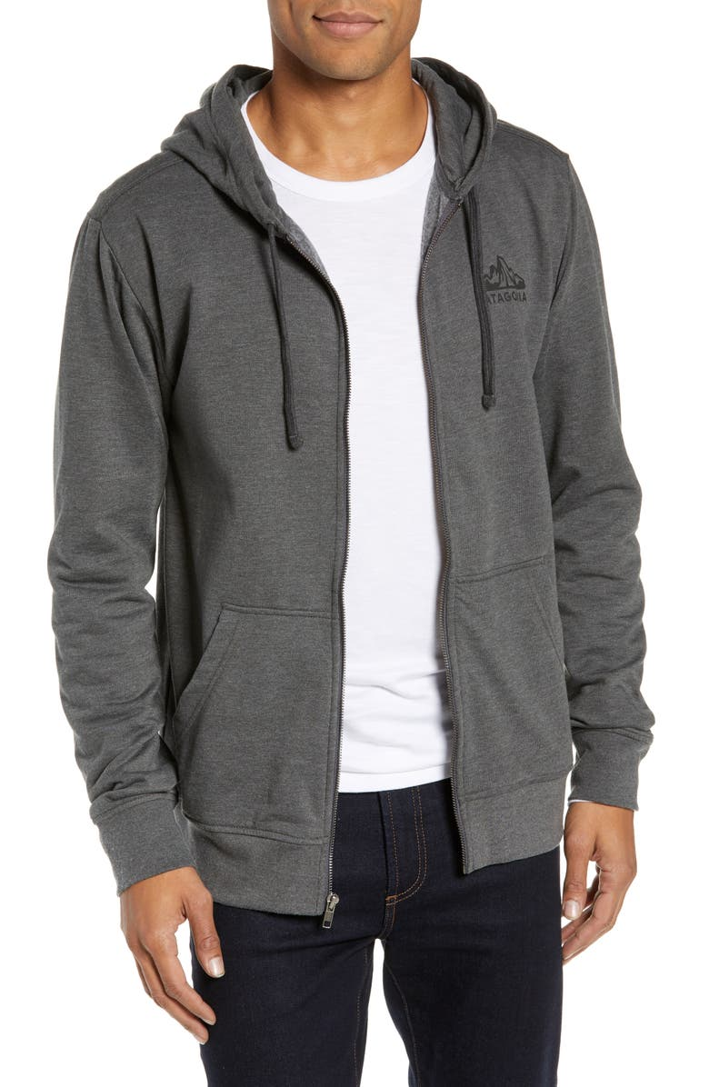 PATAGONIA Fitz Roy Scope Zip Hoodie, Main, color, FORGE GREY