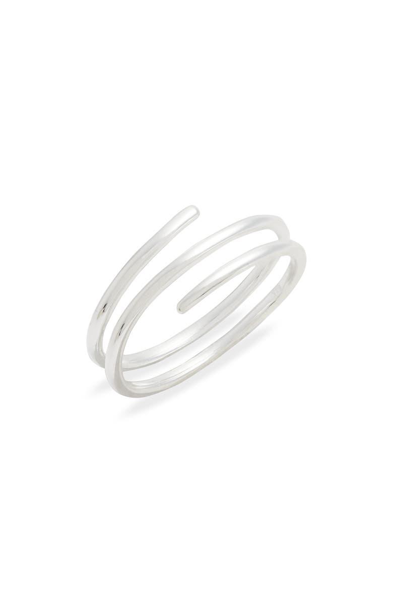 ARGENTO VIVO Wrap Ring, Main, color, SILVER