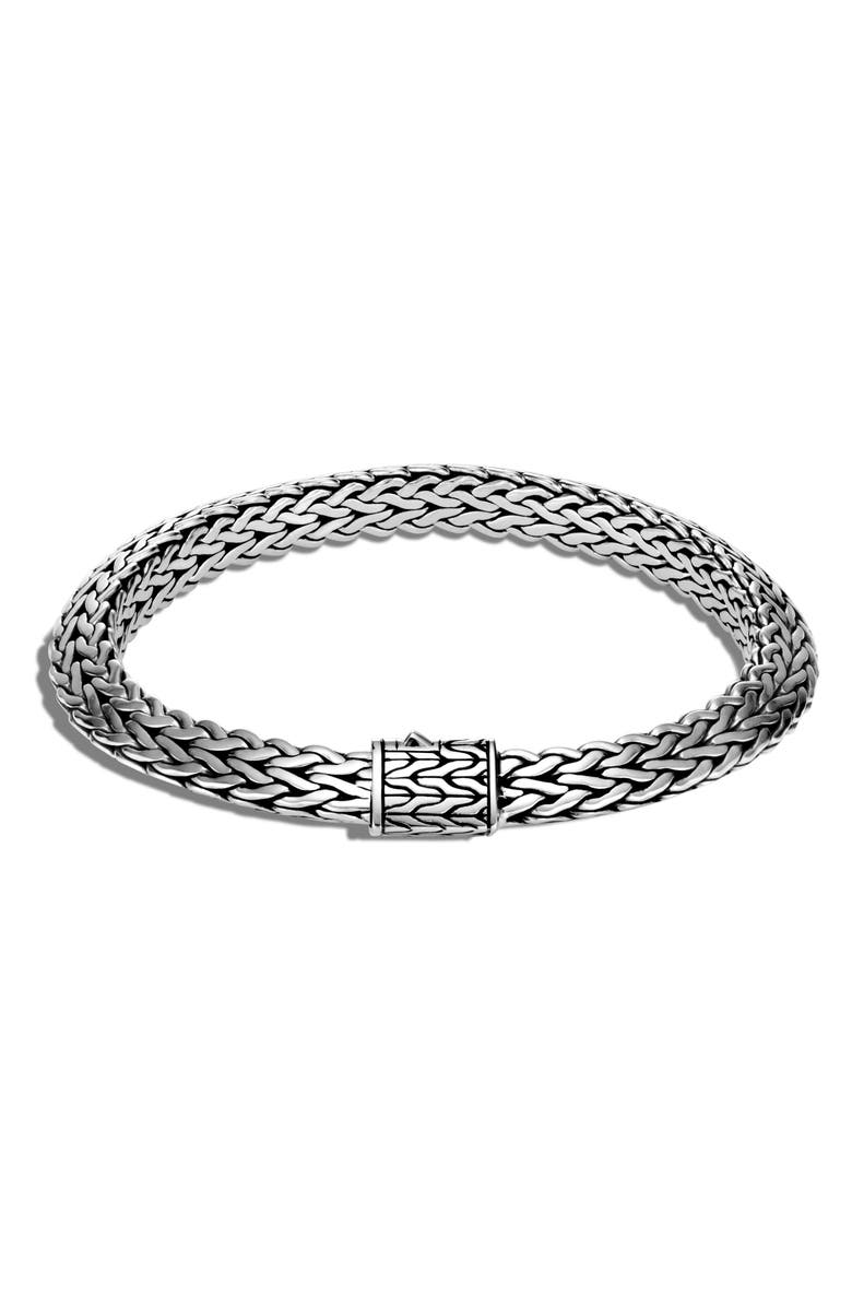 JOHN HARDY Men's Tiga Chain 8mm Bracelet, Main, color, SILVER