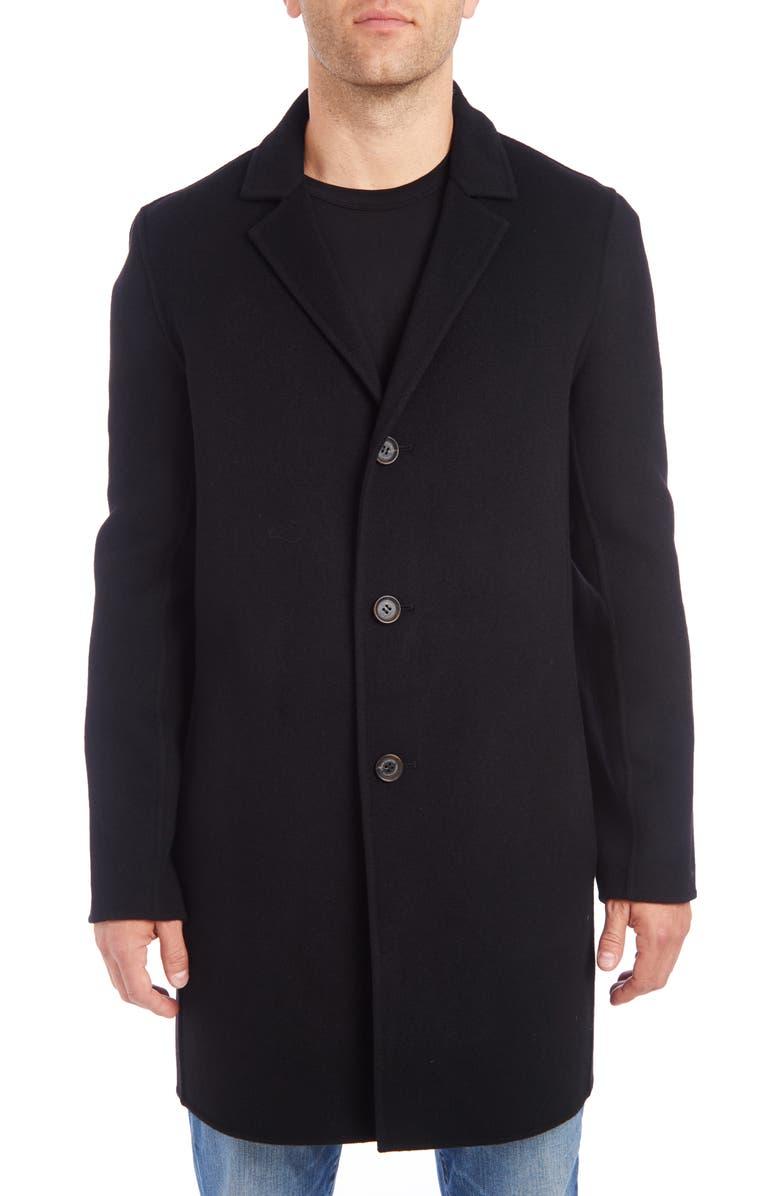 VINCE CAMUTO Wool Blend Car Coat, Main, color, BLACK
