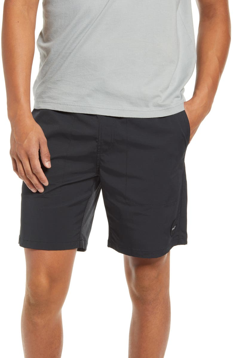 RVCA Civic Hybrid Shorts, Main, color, 001