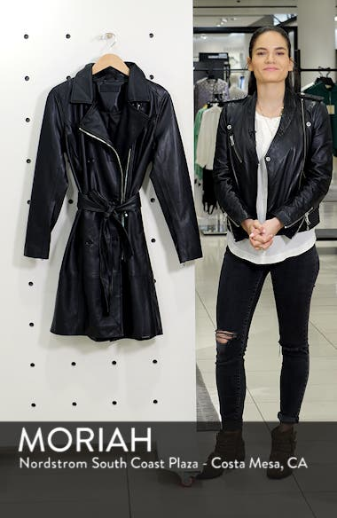 Faux Leather Trench Coat, sales video thumbnail