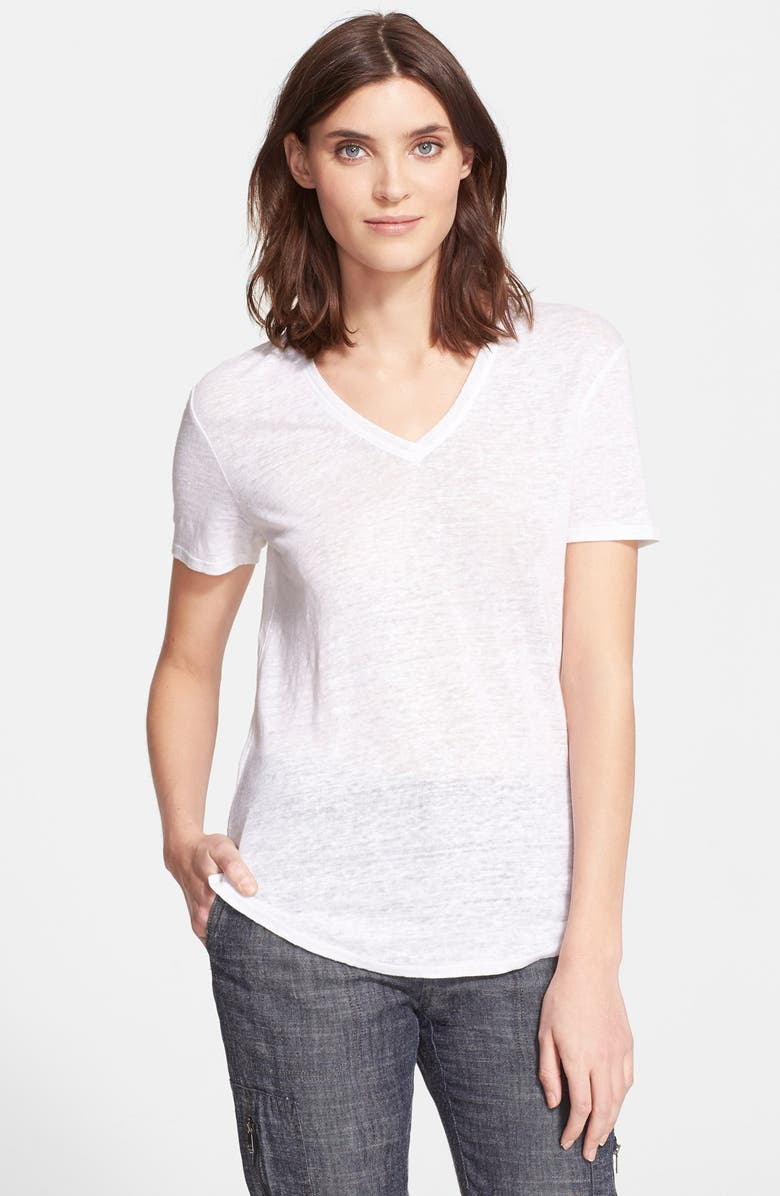 VINCE Shirttail V-Neck Tee, Main, color, 137