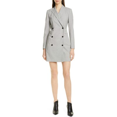 Theory Long Sleeve Blazer Dress, Grey