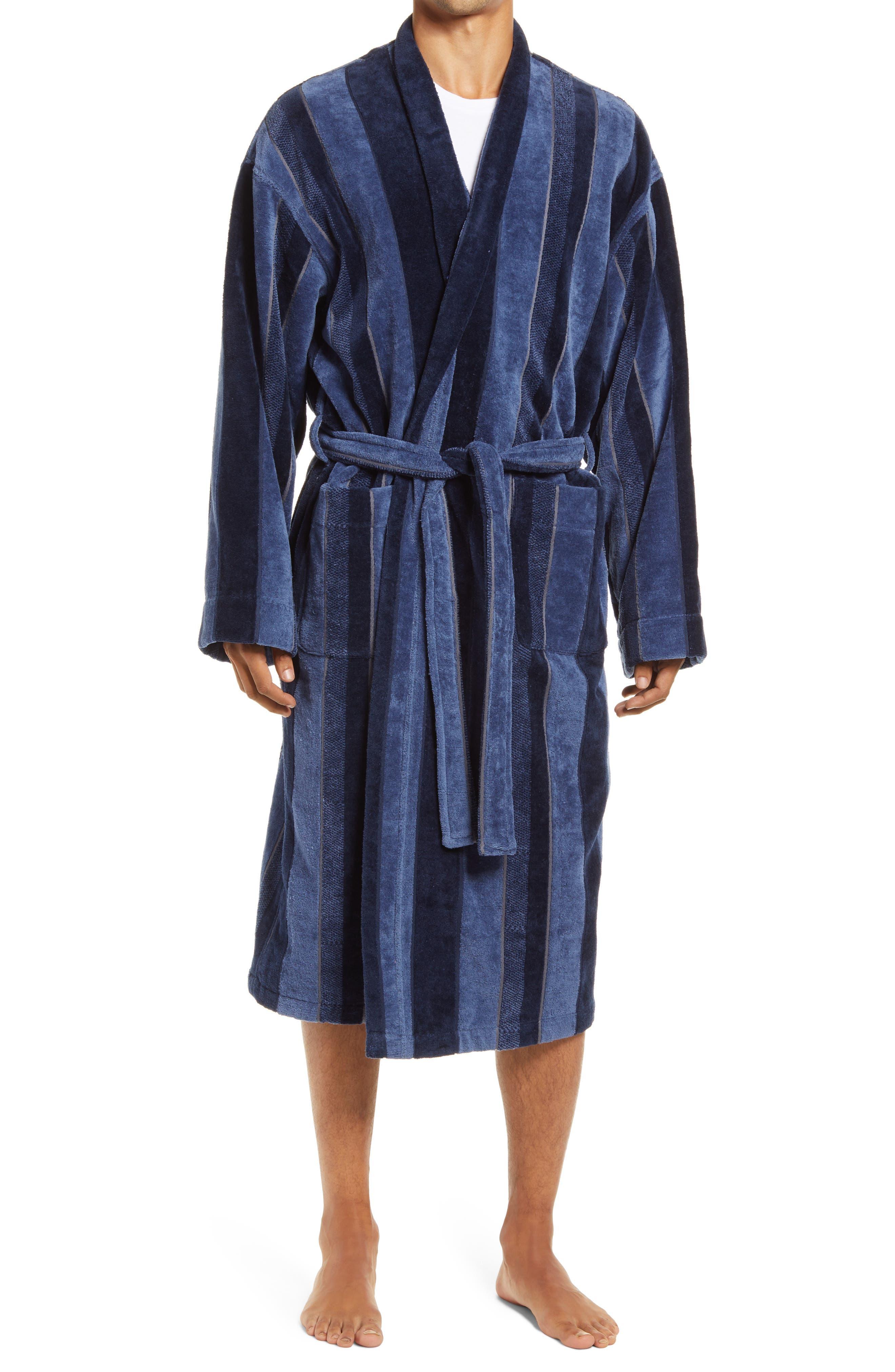 1940s Men's Underwear: Briefs, Boxers, Unions, & Socks Mens Majestic International Twilight Terry Velour Robe $110.00 AT vintagedancer.com