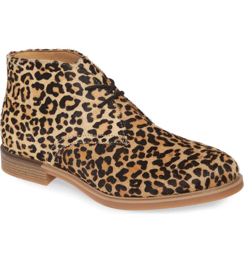 HUSH PUPPIES<SUP>®</SUP> Bailey Genuine Calf Hair Chukka Boot, Main, color, LEOPARD CALF HAIR