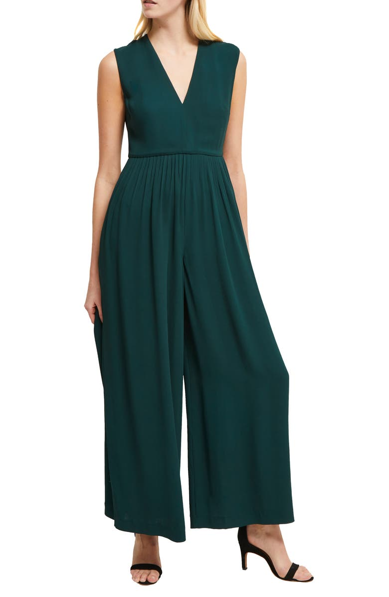 FRENCH CONNECTION Carrabelle Wide Leg Crepe Jumpsuit, Main, color, 300
