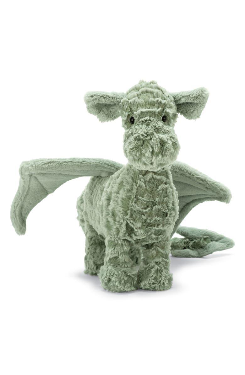 JELLYCAT Little Drake Dragon Stuffed Animal, Main, color, 330