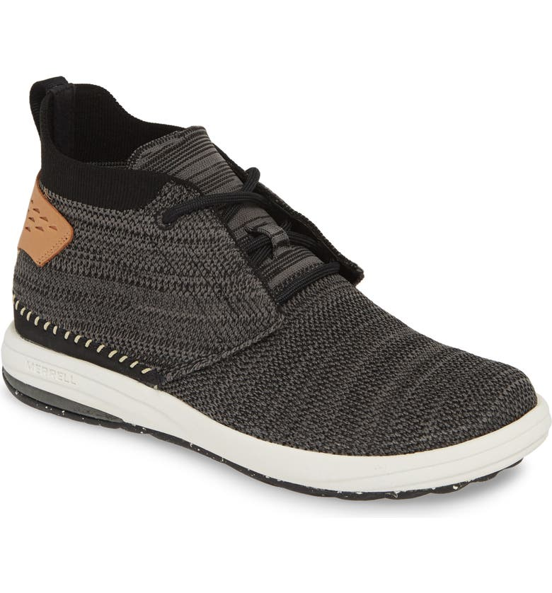 MERRELL Knit Mid Sneaker, Main, color, BLACK FABRIC