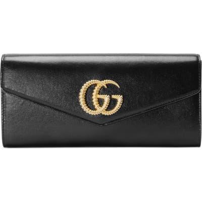 Gucci Broadway Leather Evening Clutch - Black