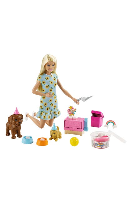 Image of Mattel Barbie Puppy Party Dough Play Set