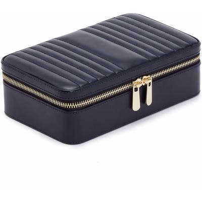 Wolf Maria Zip Rectangle Jewelry Case - Blue
