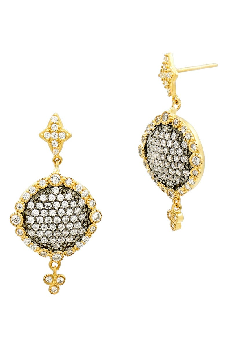FREIDA ROTHMAN Disc Drop Earrings, Main, color, GOLD/ GUNMETAL