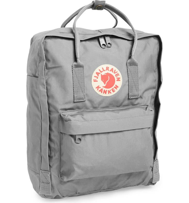 FJÄLLRÄVEN Kånken Water Resistant Backpack, Main, color, FOG