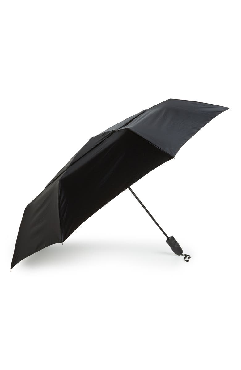 NORDSTROM MEN'S SHOP Telescoping Umbrella, Main, color, BLACK
