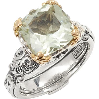 Konstantino Hermione Two-Tone Square Stone Ring