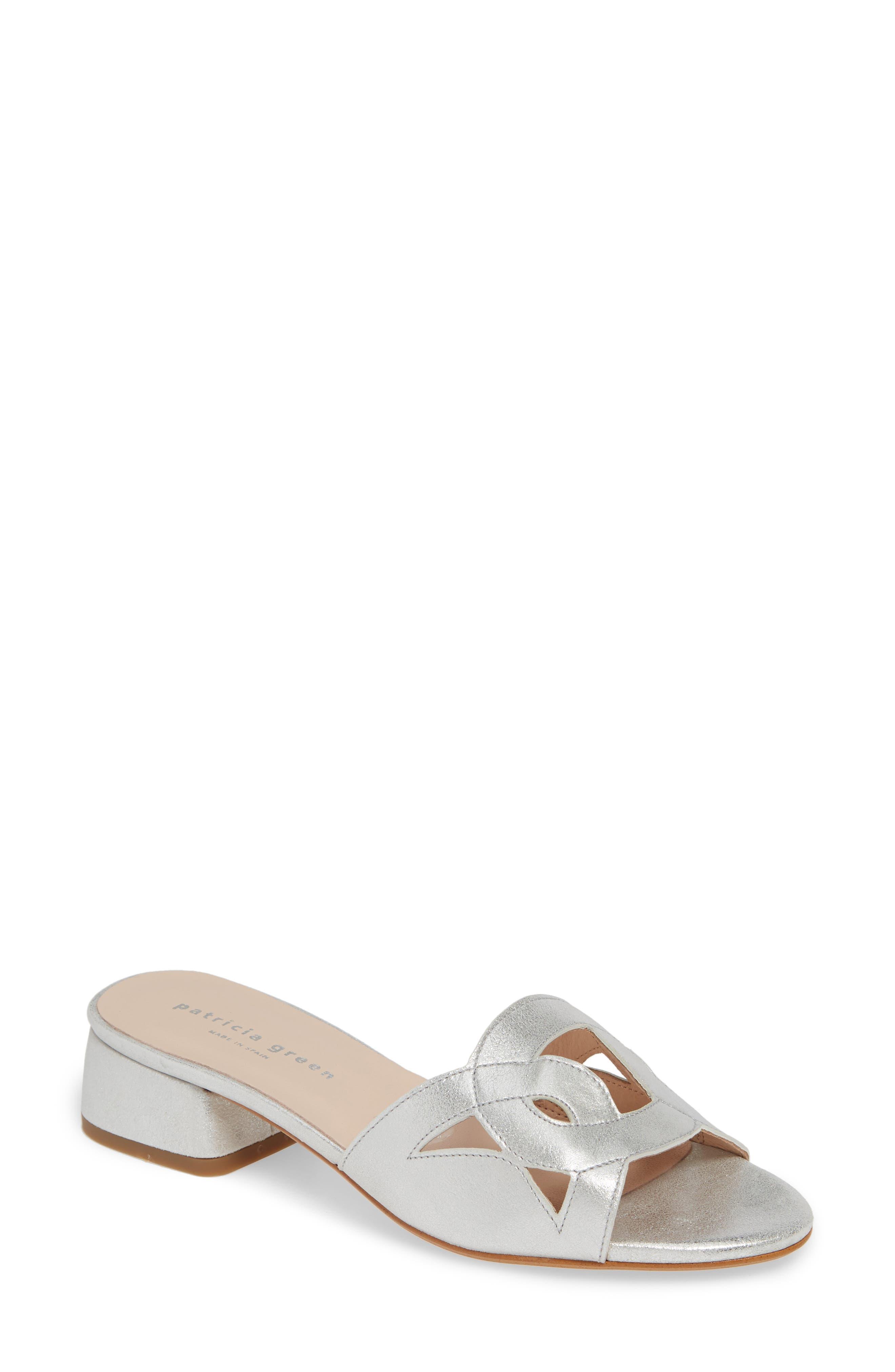 Patricia Green Boca Slide Sandal- Metallic