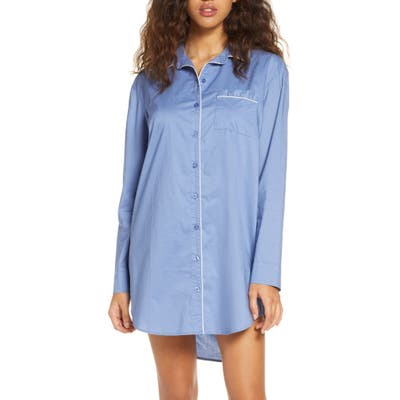 Nordstrom Lingerie Classic Nightshirt, Blue
