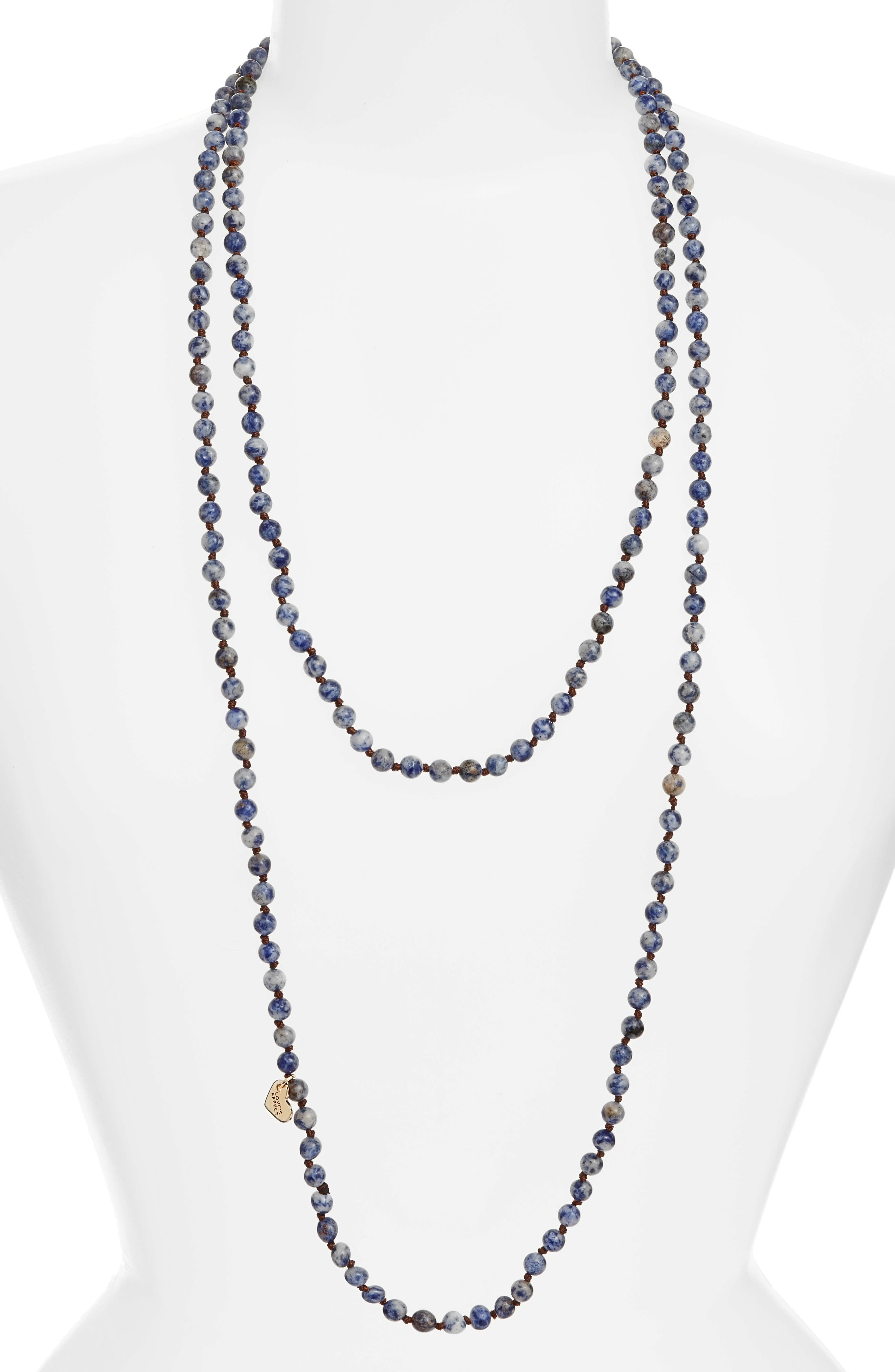 ,                             Love's Affect Knotted Semiprecious Stone Necklace,                             Main thumbnail 9, color,                             400