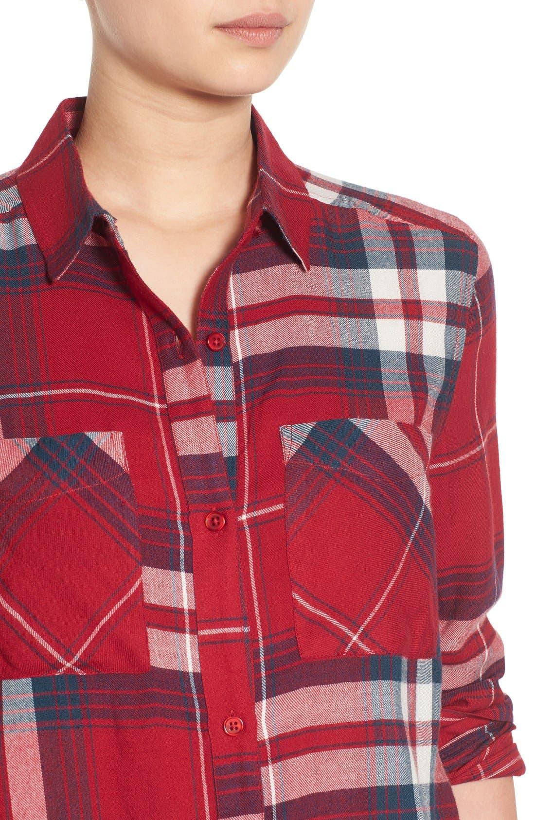 ,                             Plaid Tunic Shirt,                             Alternate thumbnail 35, color,                             610