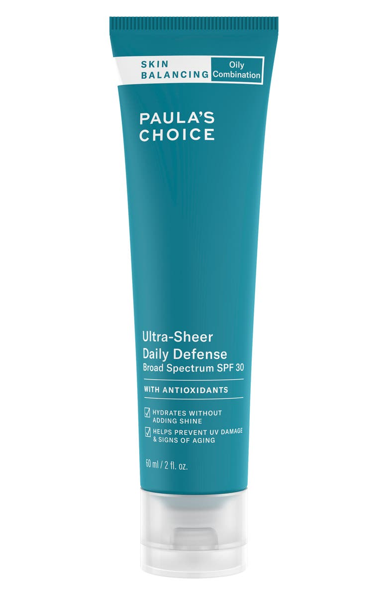 PAULA'S CHOICE Skin Balancing Ultra-Sheer Daily Defense SPF 30, Main, color, NO COLOR