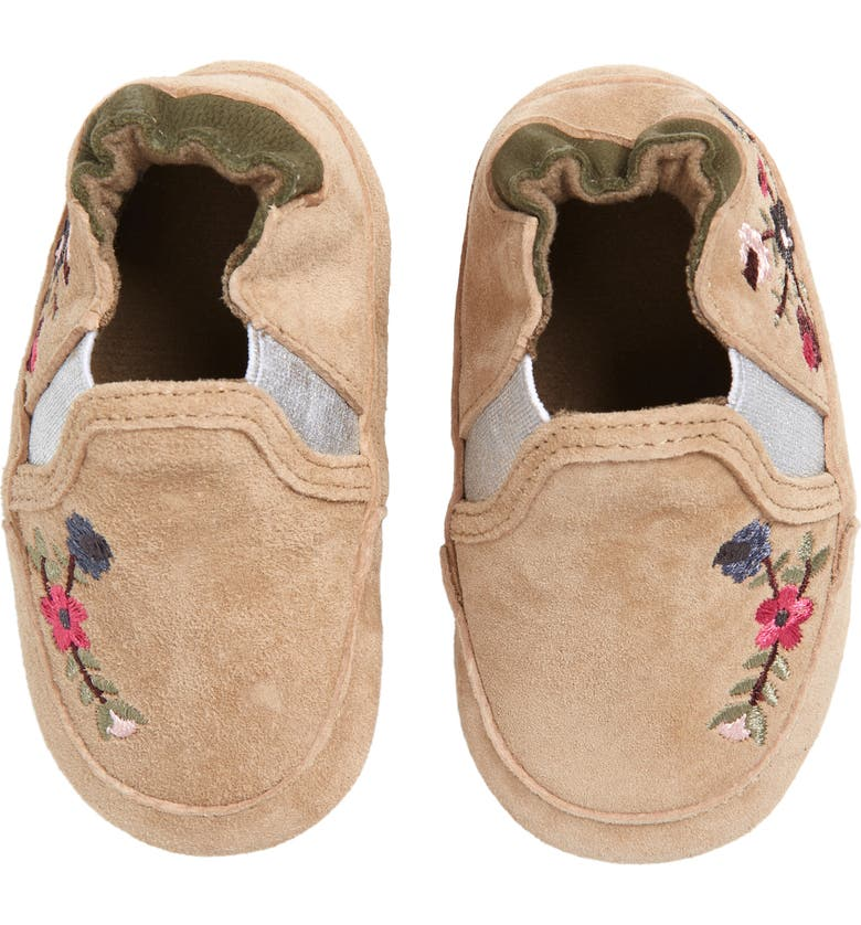 ROBEEZ<SUP>®</SUP> Aubrey Embroidered Crib Shoe, Main, color, 210