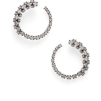 Nadri Tulle Frontal Hoop Earrings