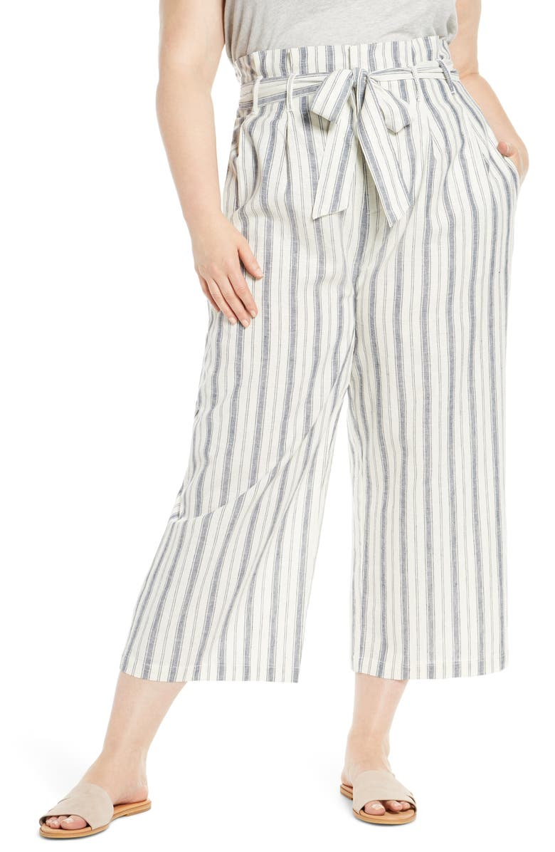 RACHEL ROY COLLECTION Paperbag Waist Ankle Trousers, Main, color, 900
