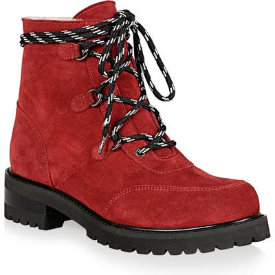 La Canadienne Charm Genuine Shearling Lined Waterproof Boot- Red