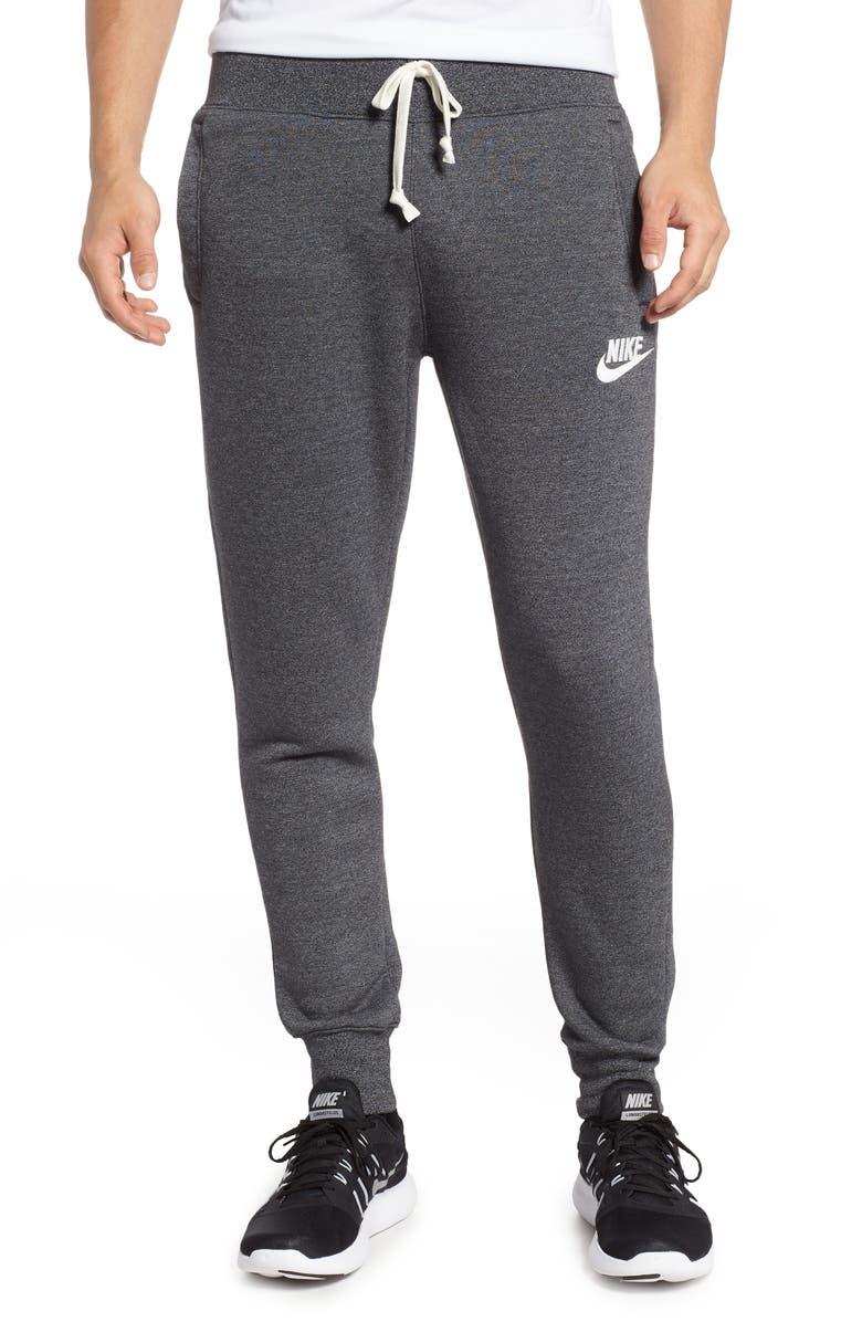 NIKE Heritage Jogger Pants, Main, color, BLACK/ HEATHER/ SAIL