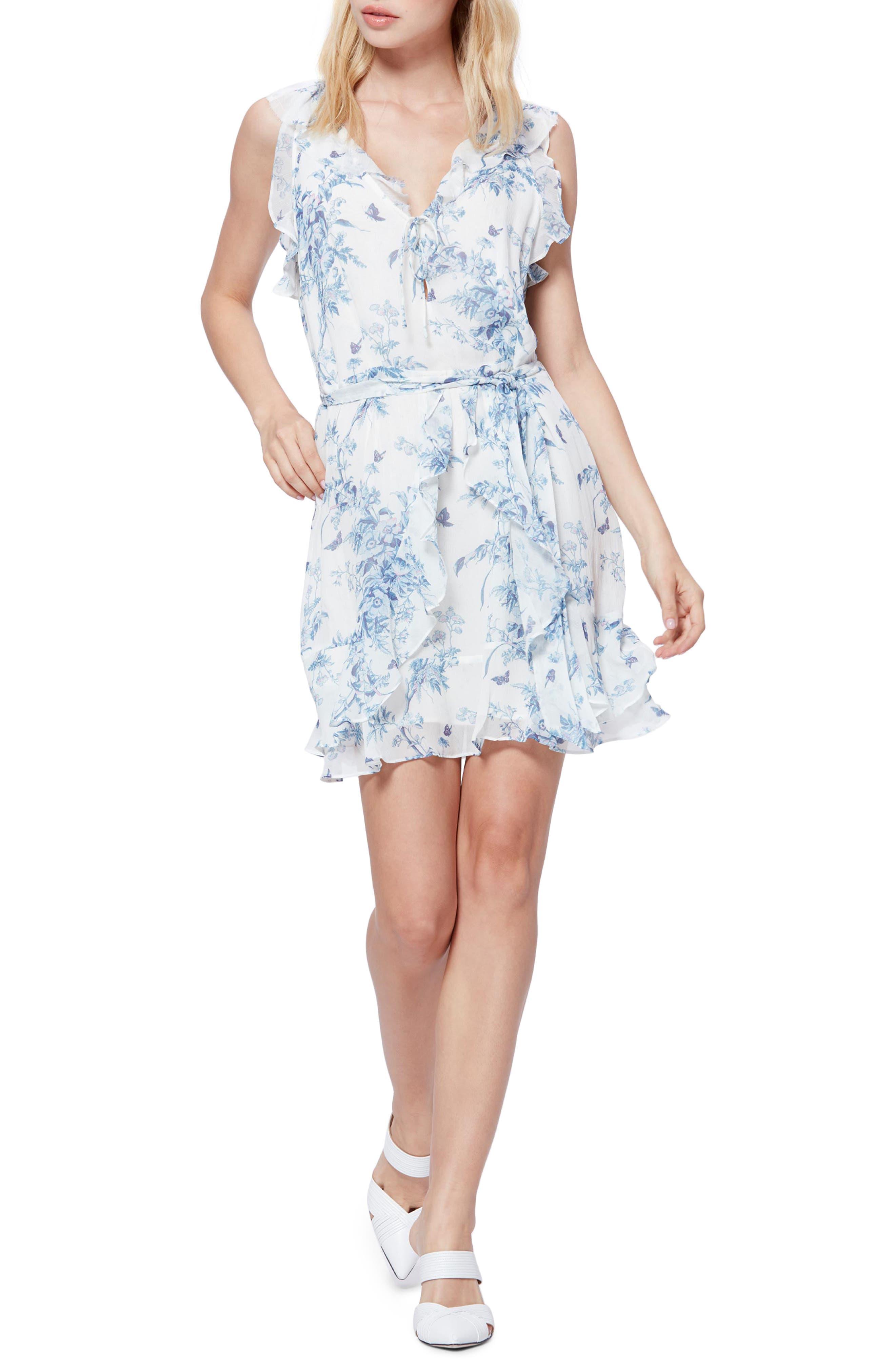 Paige Tia Silk Dress, Blue