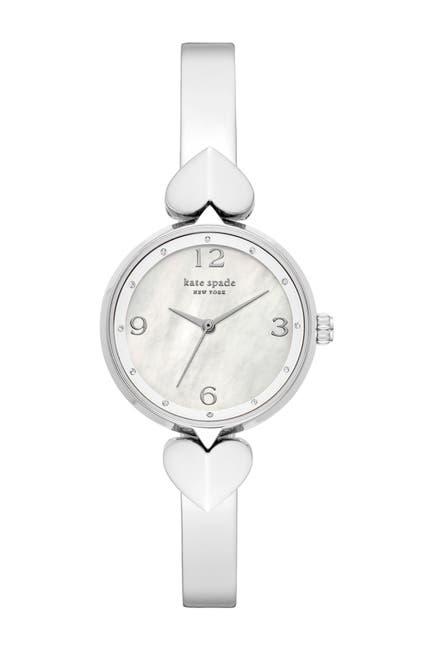 Image of kate spade new york women's hollis three-hand stainless steel bangle watch, 30mm