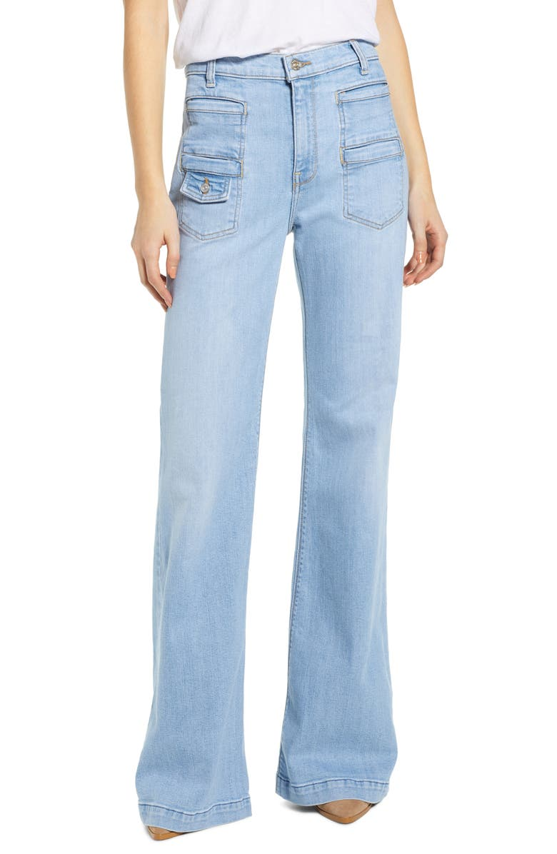 7 FOR ALL MANKIND<SUP>®</SUP> Georgia High Waist Flare Jeans, Main, color, 400