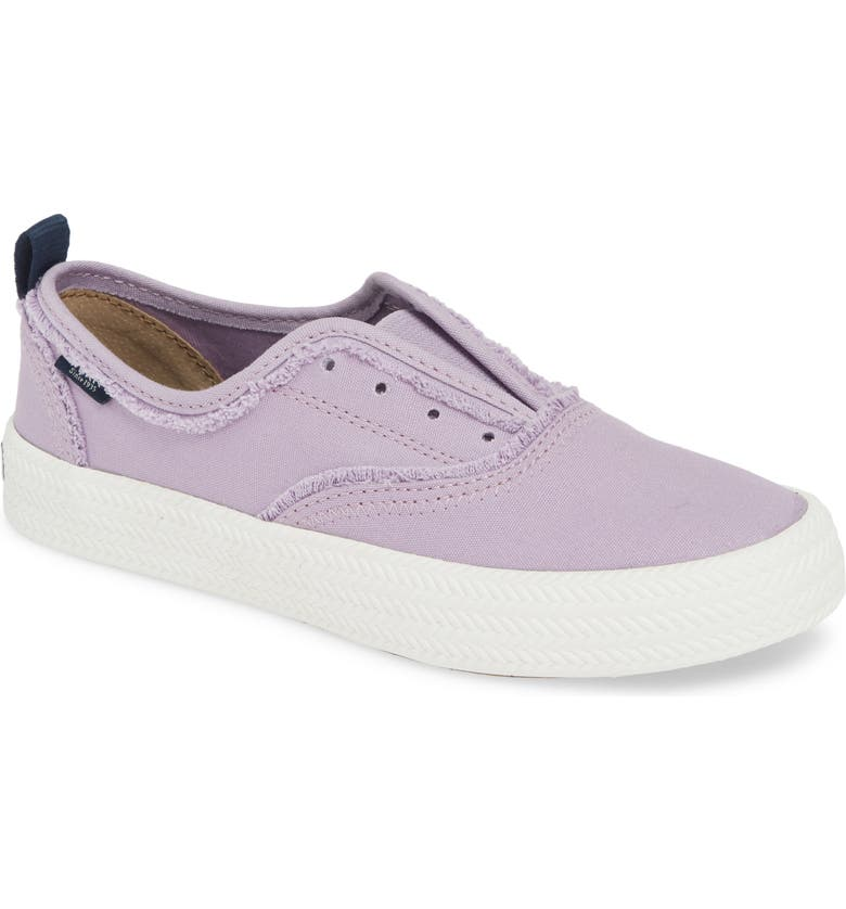 SPERRY Crest Rope Laceless Sneaker, Main, color, LAVENDER CANVAS