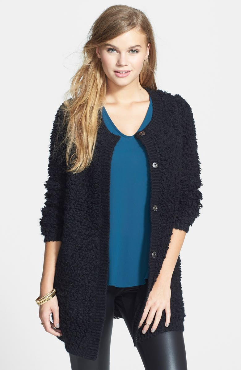 SUN & SHADOW Loopy Cardigan Coat, Main, color, 001