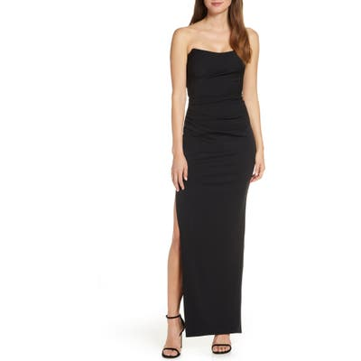 Katie May Sway Strapless Column Dress, Black