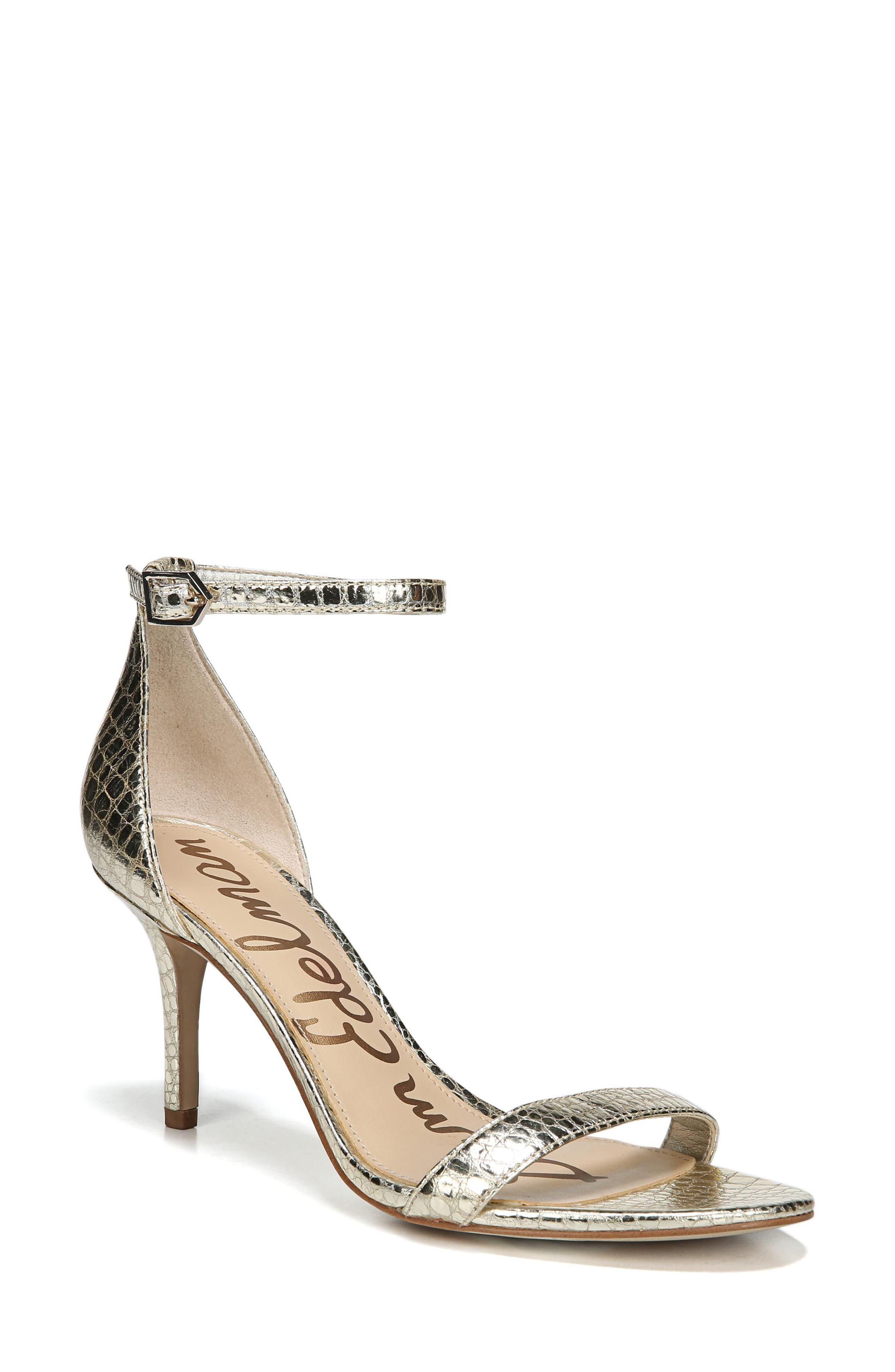 ,                             'Patti' Ankle Strap Sandal,                             Main thumbnail 134, color,                             909