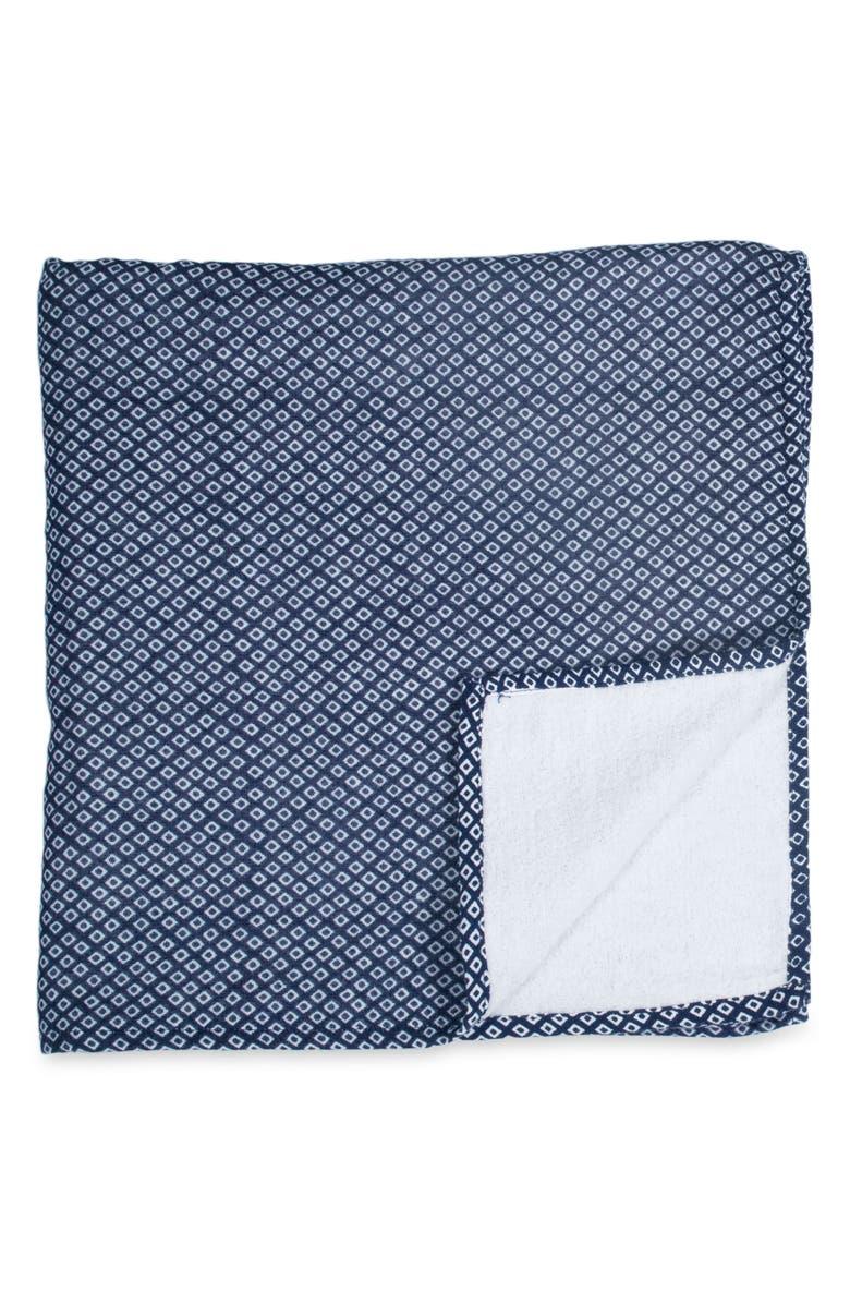 UCHINO Zero Twist Hishi Bath Towel, Main, color, DARK BLUE