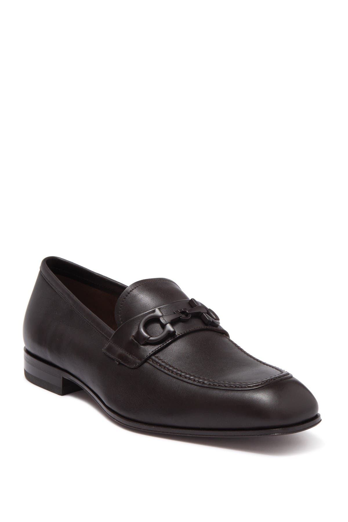 Image of Salvatore Ferragamo Horsebit Leather Loafer