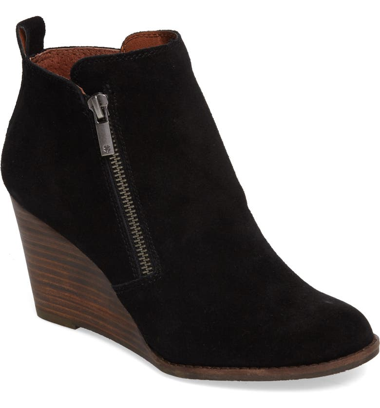 LUCKY BRAND Yesterr Wedge Bootie, Main, color, 001