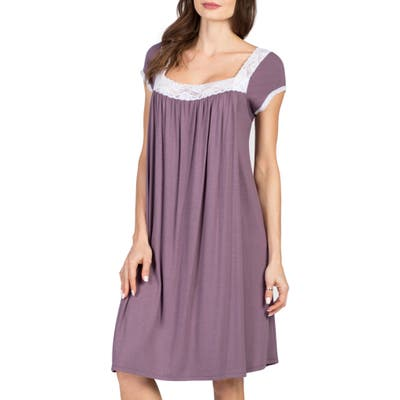 Savi Mom Joliet Maternity/nursing Nightgown, Purple