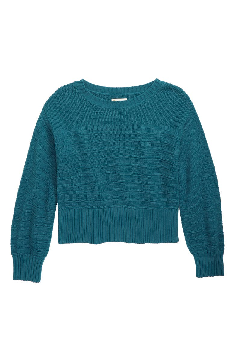 TUCKER + TATE Sunday Morning Sweater, Main, color, TEAL CORAL
