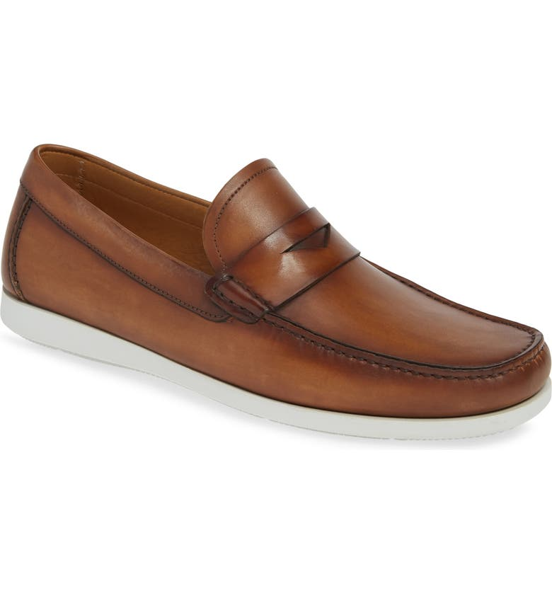 MAGNANNI Laguna Penny Loafer, Main, color, TOBACCO LEATHER
