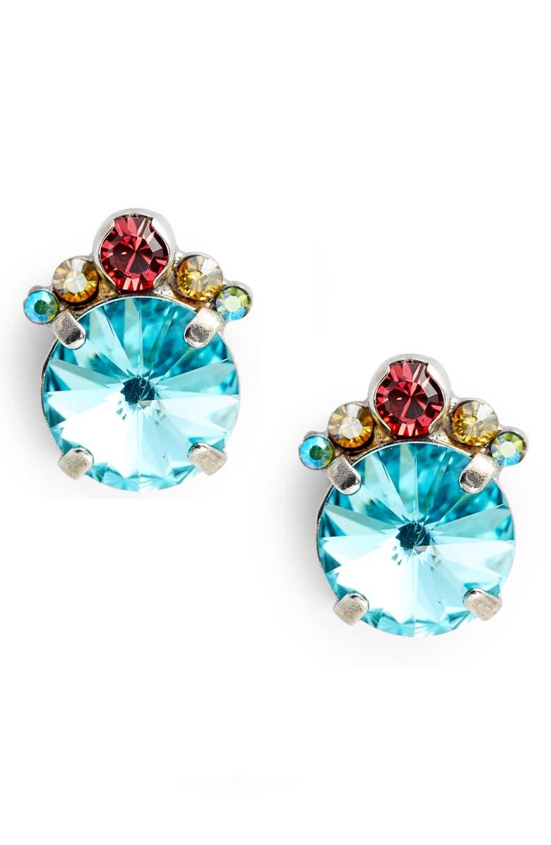 SORRELLI Regal Rounds Crystal Earrings, Main, color, 400