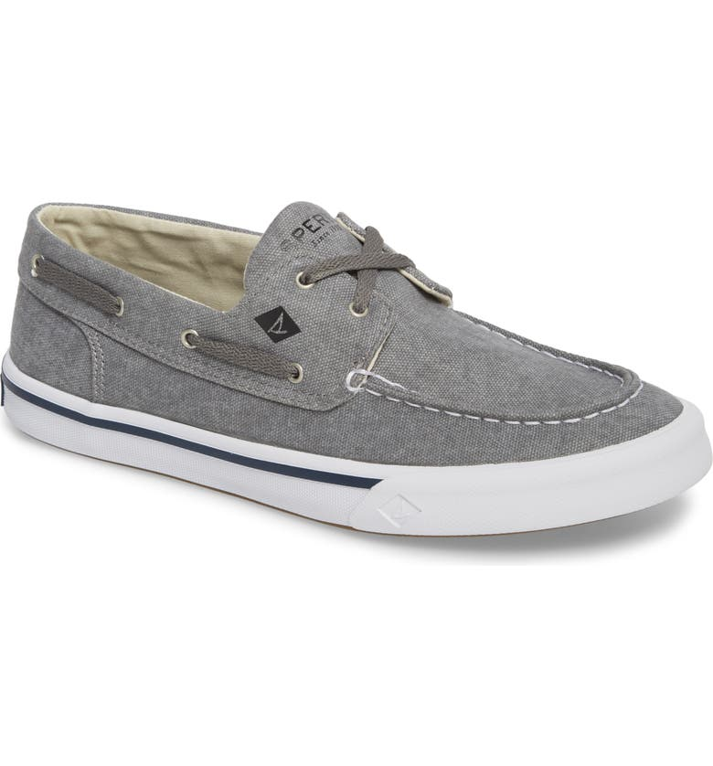 SPERRY Striper 2 Boat Shoe, Main, color, GREY CANVAS