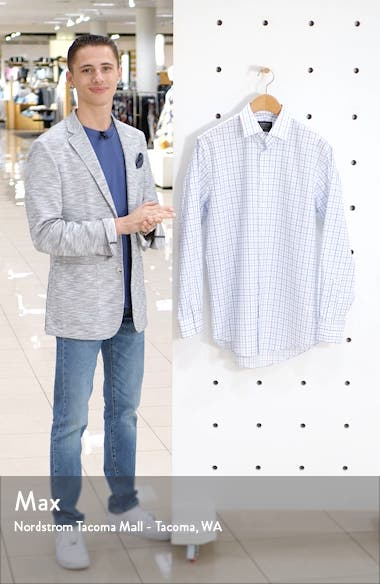 Traditional Fit Non-Iron Check Dress Shirt, sales video thumbnail