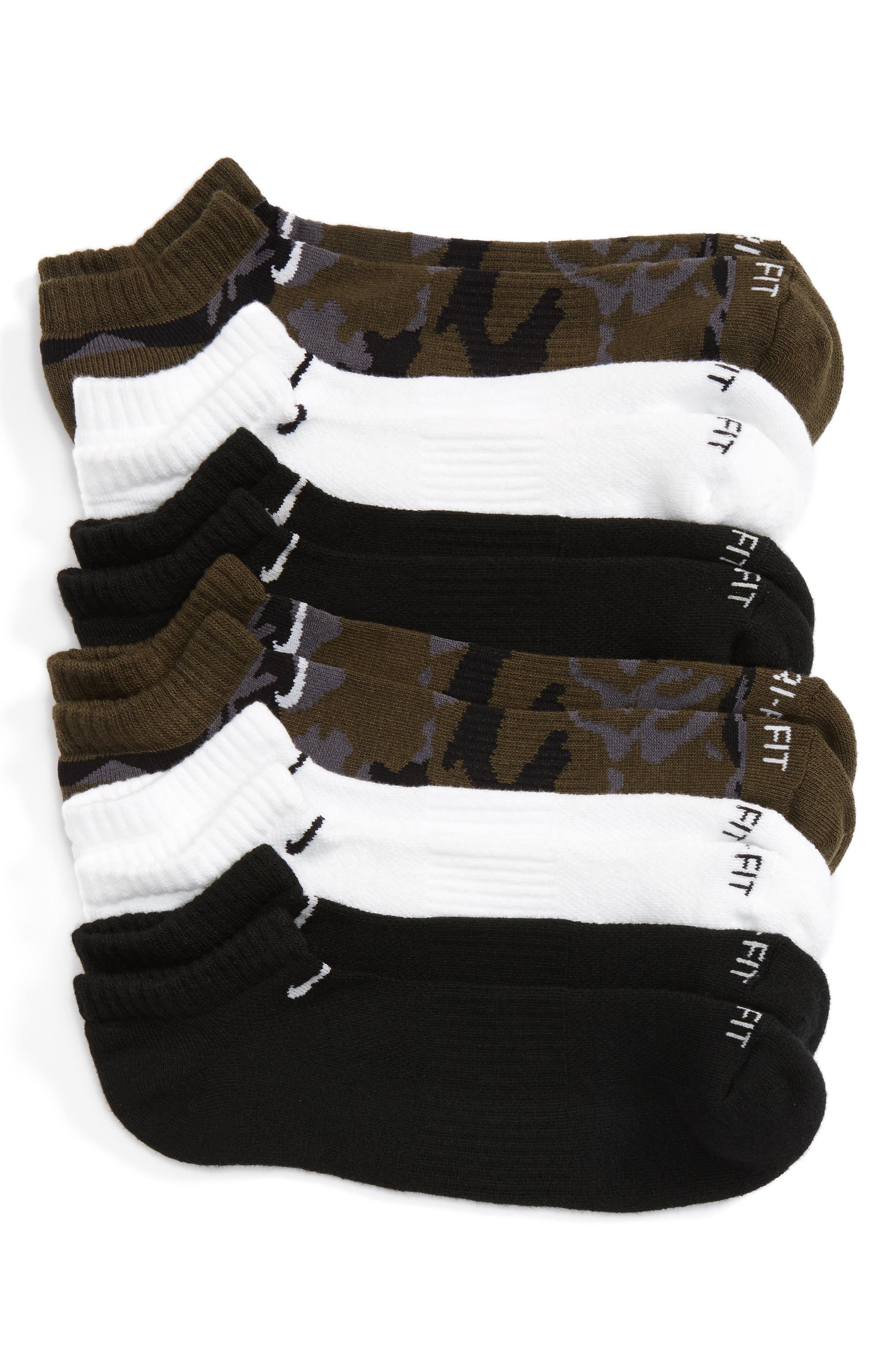 ,                             6-Pack Dri-FIT No-Show Socks,                             Main thumbnail 3, color,                             300