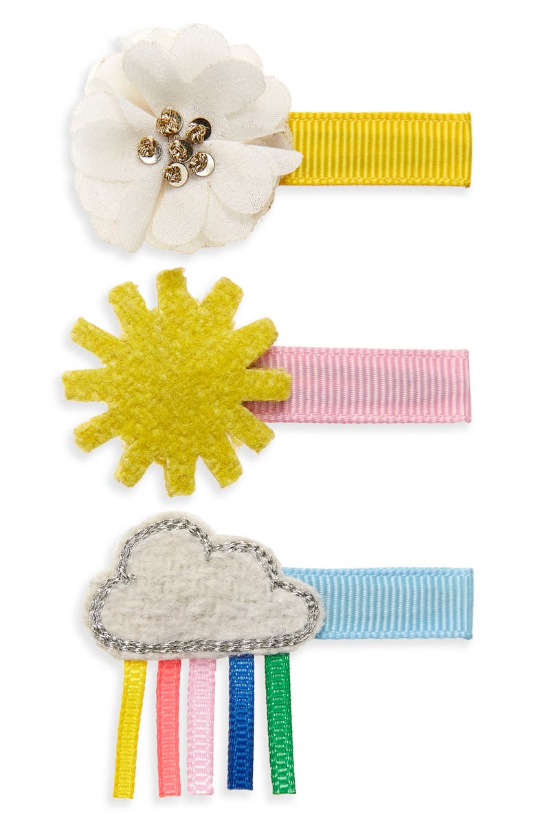 MINI BODEN Boden 3-Pack Hair Clips, Main, color, 960