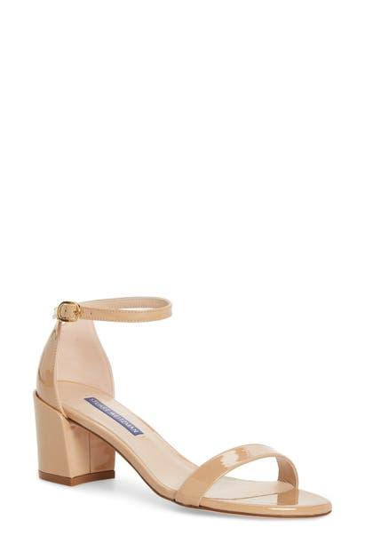 Stuart Weitzman Low heels SIMPLE ANKLE STRAP SANDAL