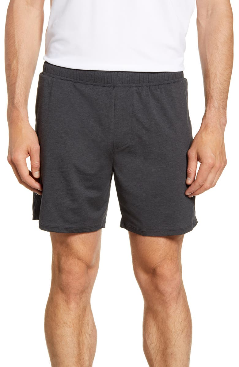RHONE Tempo Running Shorts, Main, color, ASPHALT HEATHER